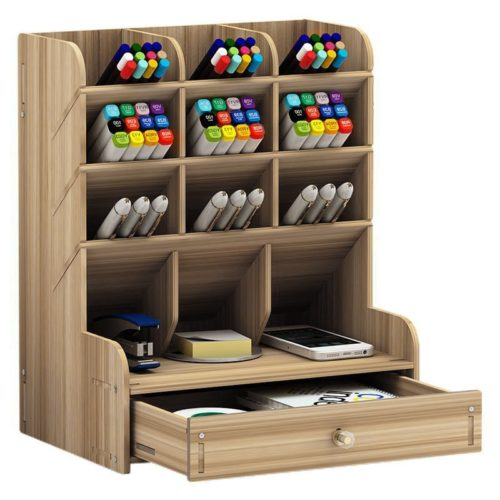 Wooden Pen Organizer for Desk