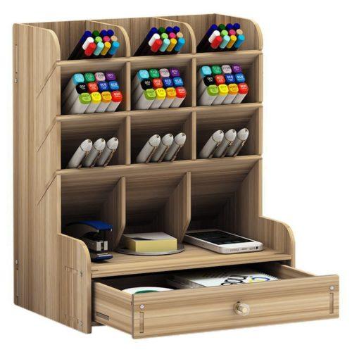 Wooden Pen Organizer for Desk