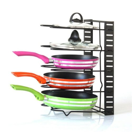 Frying Pan Rack 5-Tier Organizer