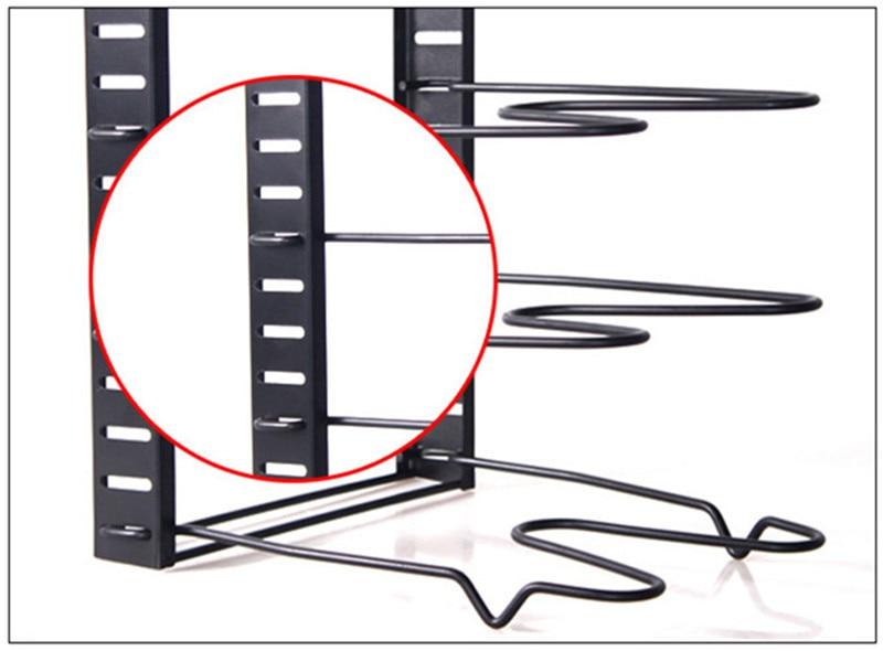 5-layers Stainless Steel Pan Organizer Holder Cutting Board Pan Pot Adjustable Shelf Accessories Kitchen Cookware Storage Rack