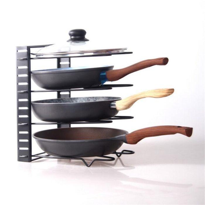 Frying Pan Rack 5-Tier Organizer