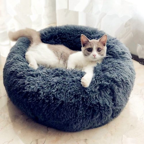 Round Pet Bed Plush Bedstead
