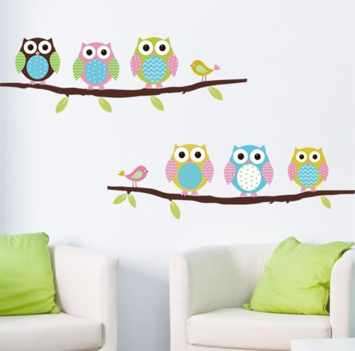 Owl Decals Vinyl Wall Stickers