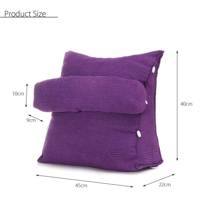 Reading Pillow Backrest Cushion with Headrest