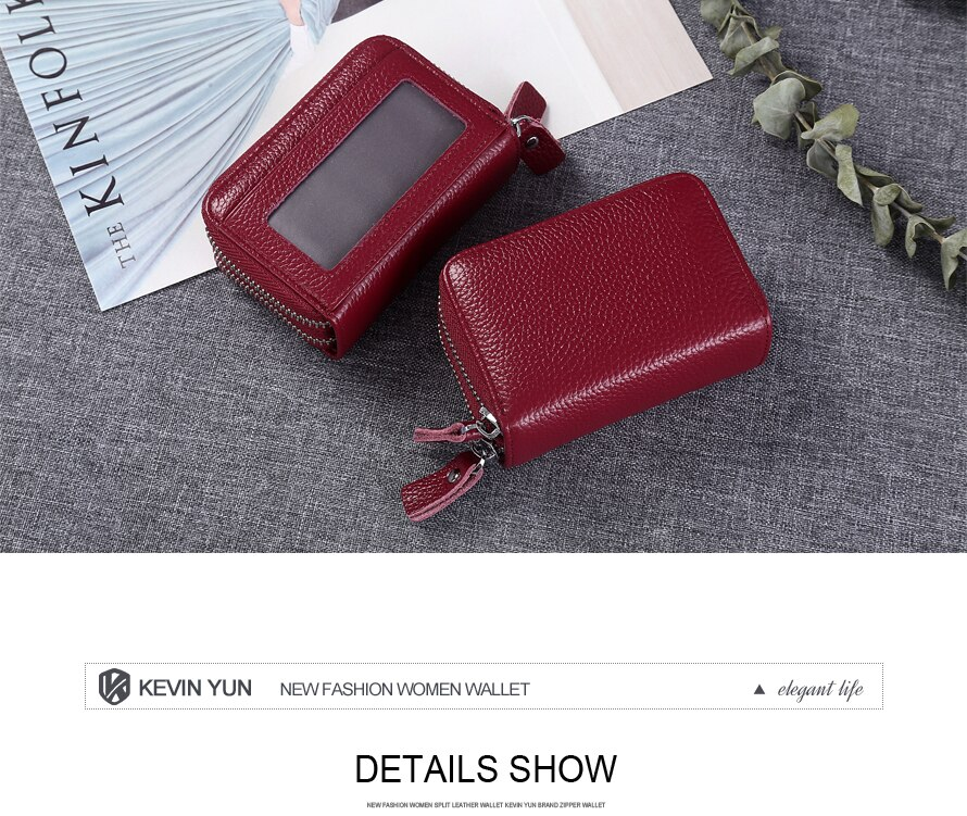 Ladies Credit Card Holder Leather Case