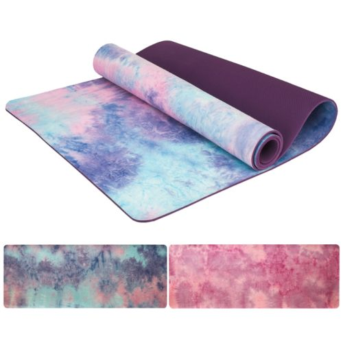 Suede Yoga Mat Exercise Pad