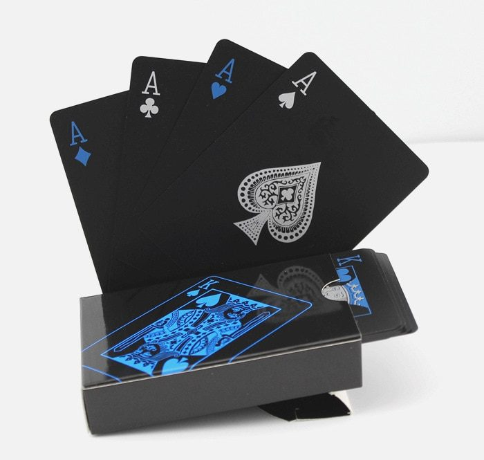 Black Playing Cards One Deck (52 Cards)
