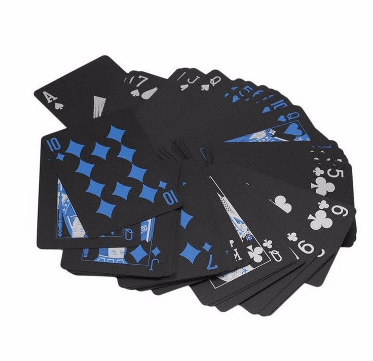 High Quality Playing Cards Waterproof Pure Black Playing Cards Plastic Board Game Card PVC Poker Cards Magic Tricks Cards