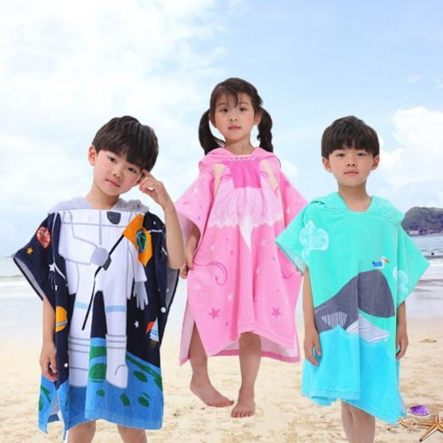 Kids Poncho Towel with Hood