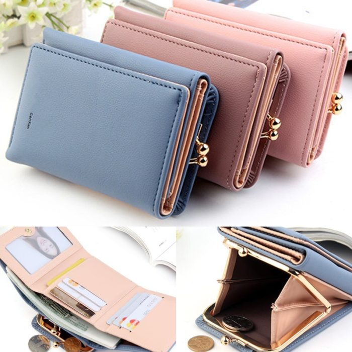 PU Leather Womens Pocket Wallet