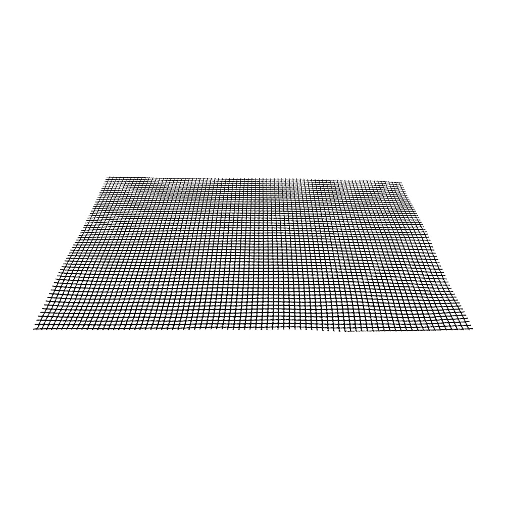 HILIFE Roaster Barbecue Grid Grilling Mat High Temperature Resistance Steamer Mat Pizza Mat Black Non-stick