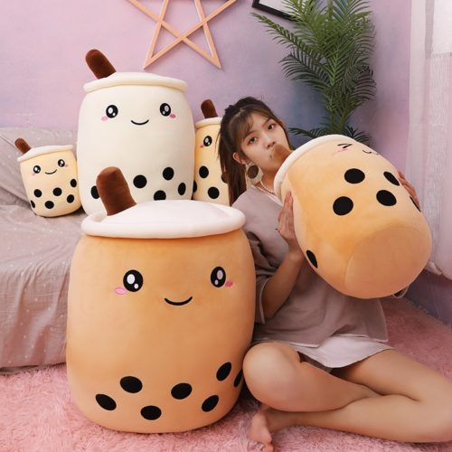 Bubble Tea Plush Cute Tea Cup Pillow