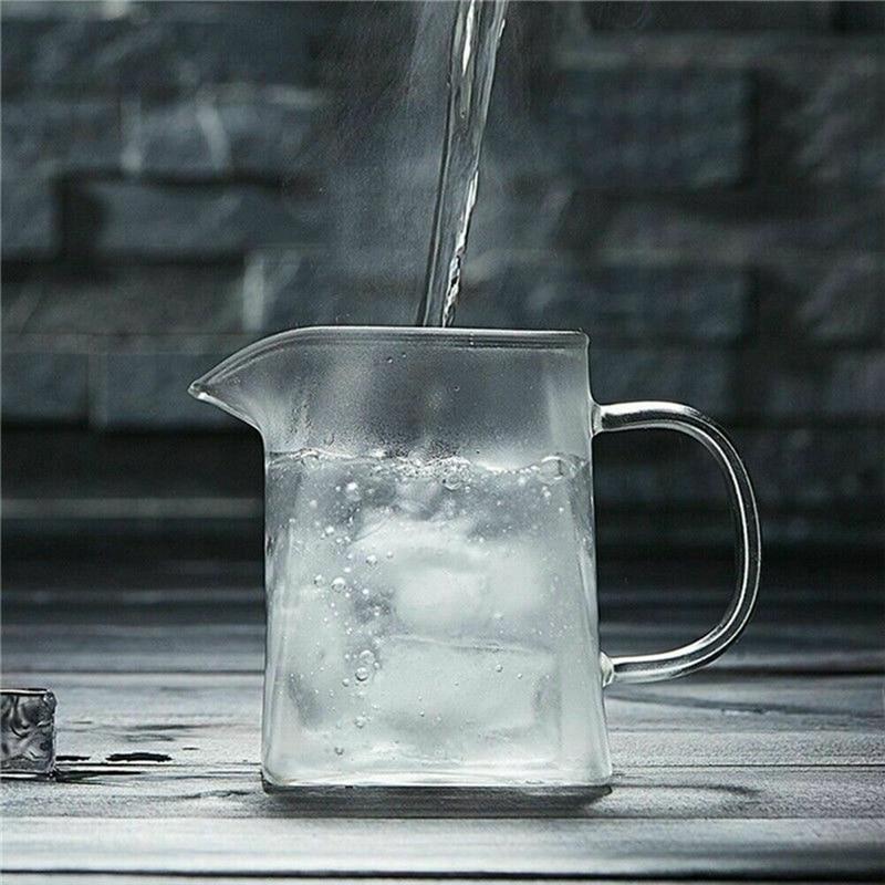 350-750ML Clear Heat Resistant Clear Glass Teapot Jug W Infuser Coffee Tea Leaf Herbal Pot Flower Teapot Milk Juice Container