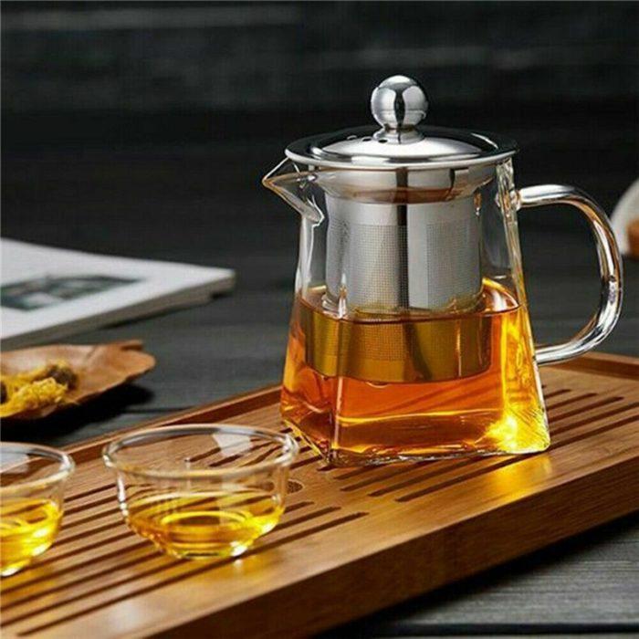 Infuser Teapot Heat-Resistant Glass