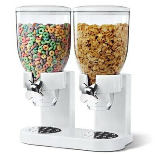 Double Cereal Dispenser Food Storage