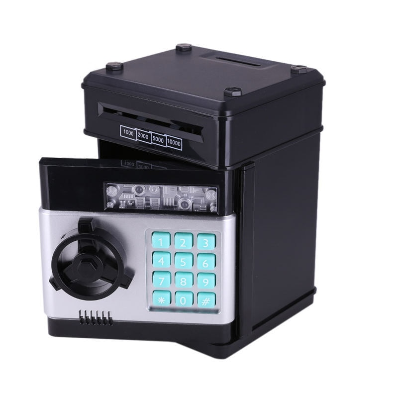 Electronic Piggy Bank ATM Mini Money Box Safety Password Chewing Coin Cash Deposit Machine Gift for Children Kids