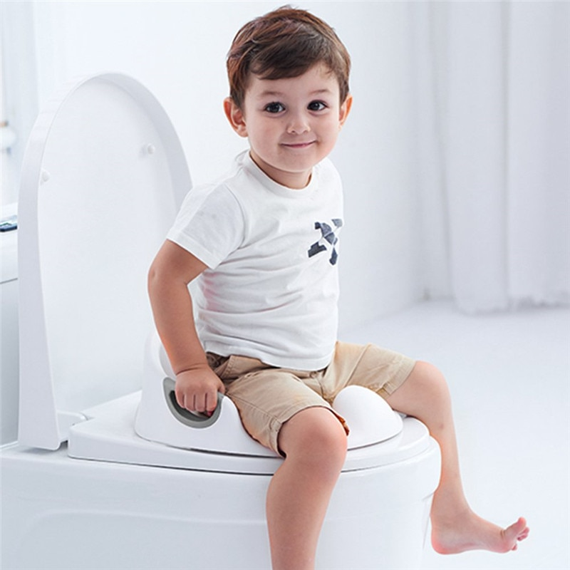 Multifunctiona Baby Potty Training Seat Portable Toddlers Kids Potties Trainer Seats with Soft Cushion Anti-Slip Potty Ring