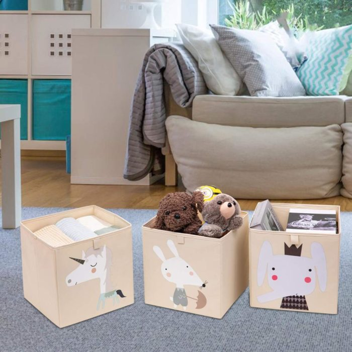 Kids Toy Storage Box Cute Storage Bin