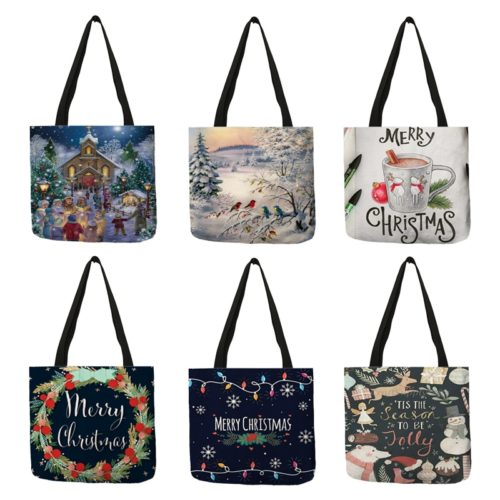 Ladies Christmas Tote Bag