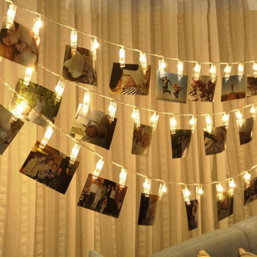 Lights with Photo Clips Room Decor