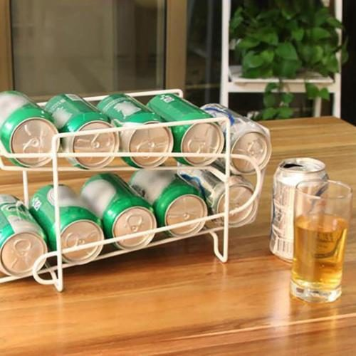 Soda Can Organizer Double Layer Stand