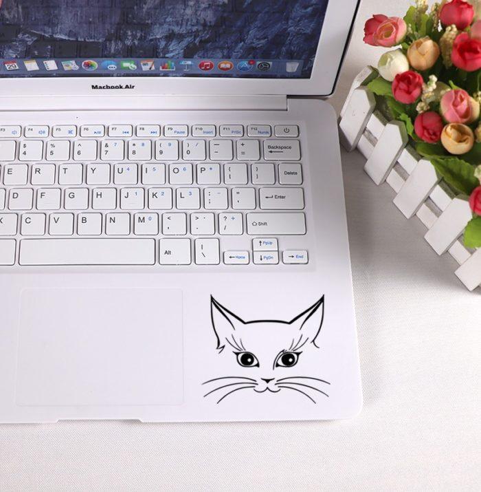 Cute Cat Laptop Sticker Design