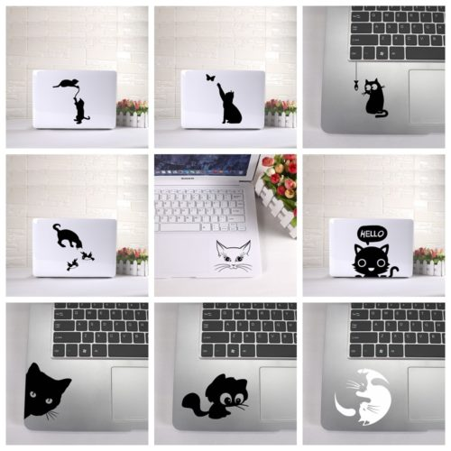 Cute Cat Laptop Sticker Design
