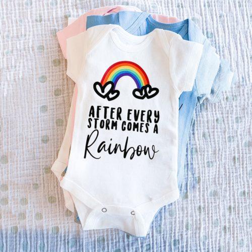 Cute Rainbow Baby Onesie