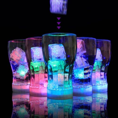 Flashing Ice Cubes LED Lights (12 PCs)