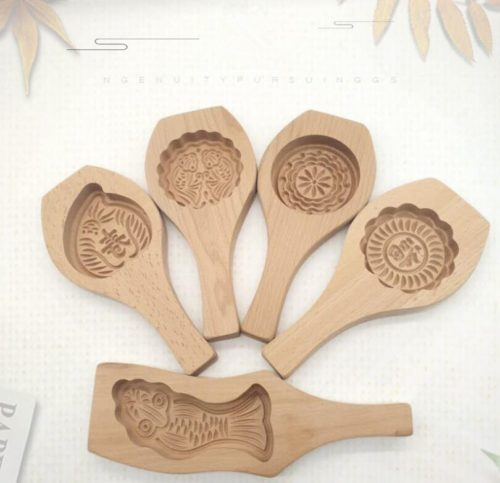 Mooncake Molder Wooden Baking Mold