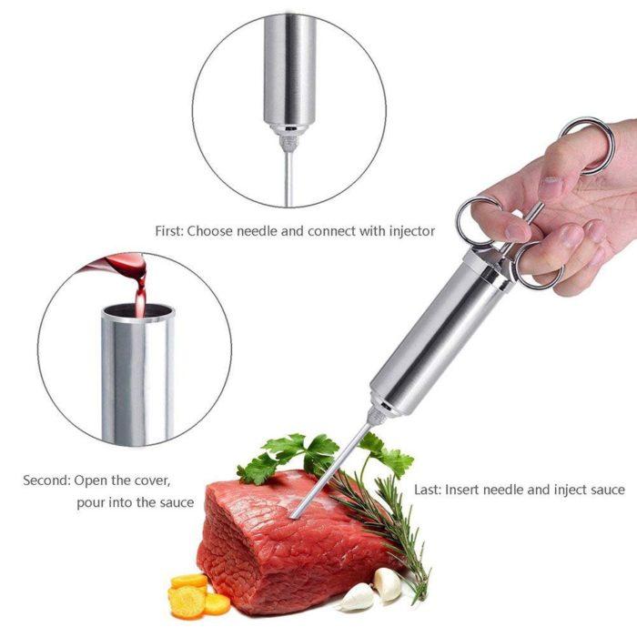 Meat Syringe Stainless Set (10pcs)