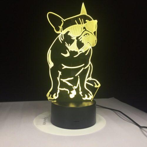 French Bulldog Lamp 3D Acrylic Light