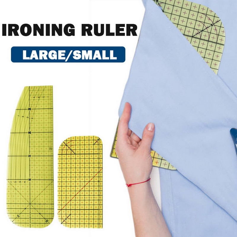 1PCS Ironing Ruler Measuring Tool Hot Patchwork Tailor Craft Cloth Cutting Rulers Patchwork Ruler Quilting Rule regle de couture