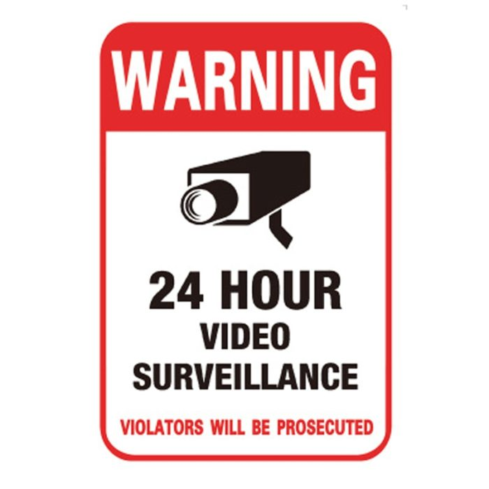 CCTV Stickers Security Warning (10pcs)