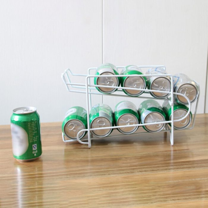 Soda Can Dispenser Double Layer Rack