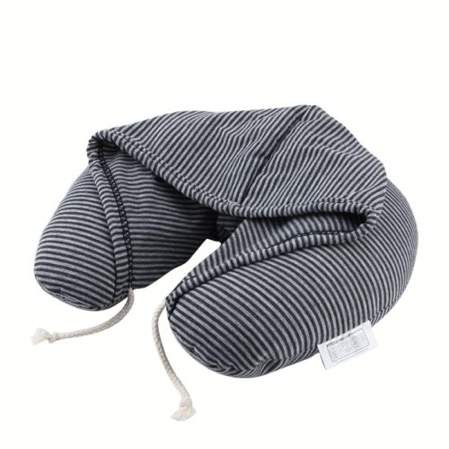 Neck Travel Pillow with Hood