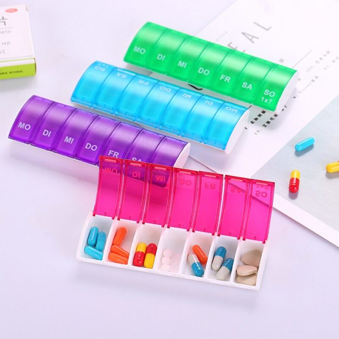 Daily Pill Organizer Container