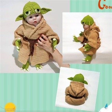 Yoda Baby Outfit Crochet Costume