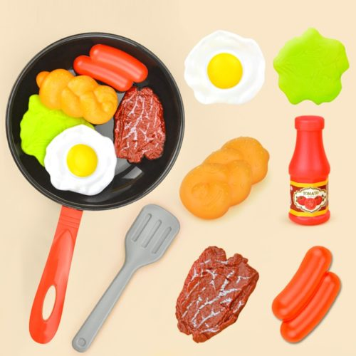 Kids Plastic Play Food Set