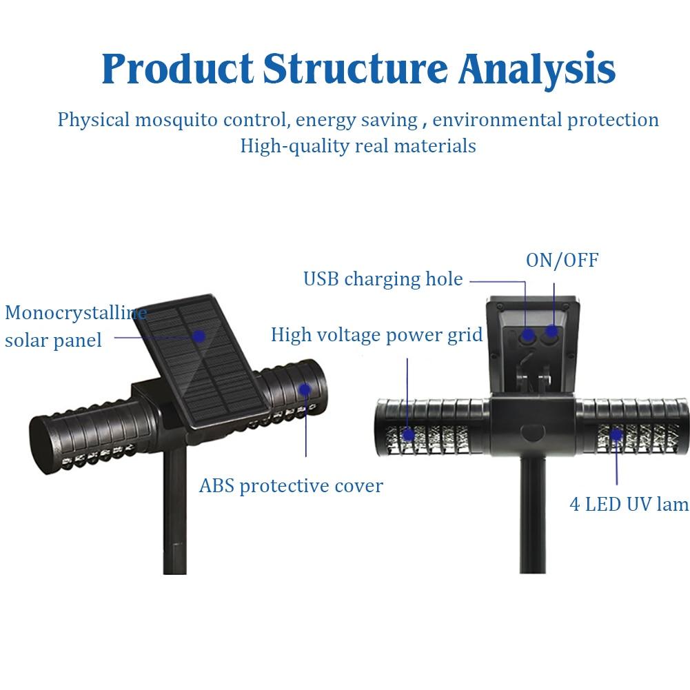 מנורת רוצח יתושים NICLUX חיצוני מנורת אנטי Moustique רוצח חרקים USB עמיד למים UV זבוב באג Zapper LED מלכודת יתושים