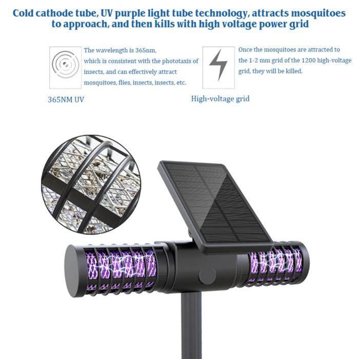 Solar Mosquito Zapper Outdoor Light