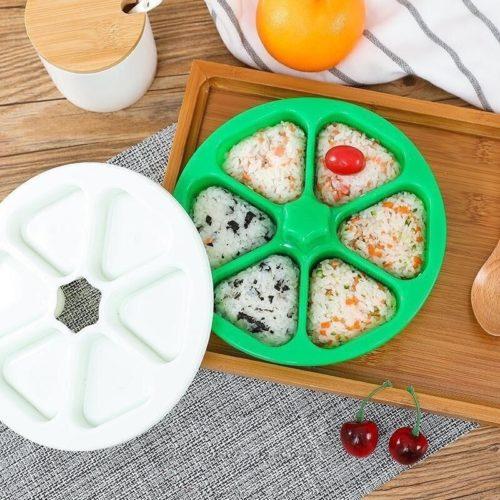 Onigiri Maker 6-Slot Plastic Mold