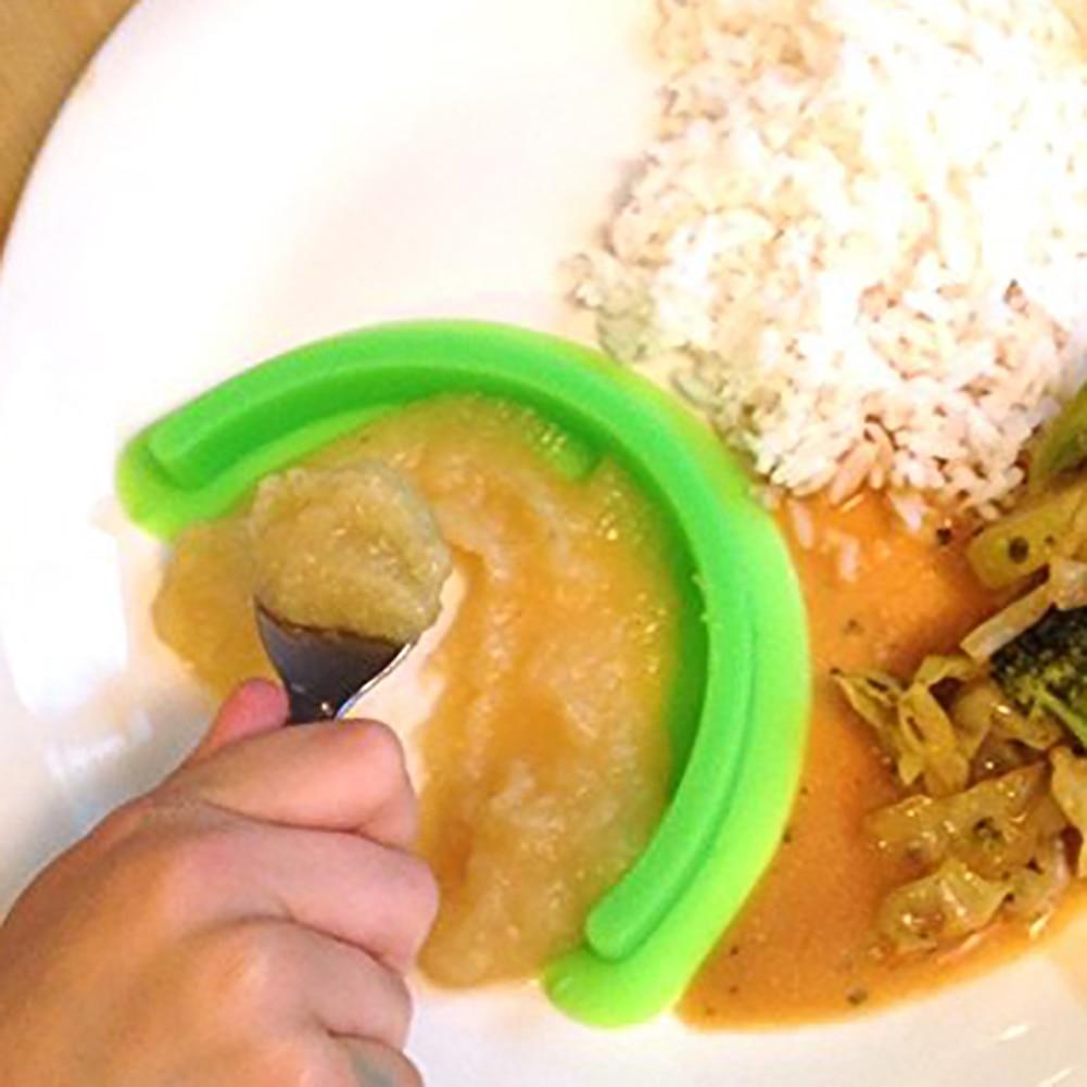 2 יחידות יניקה חזקה ניידת מפריד מזון סיליקון מפריד עמיד צלחת בידוד רוטב מחלק BPA חינם