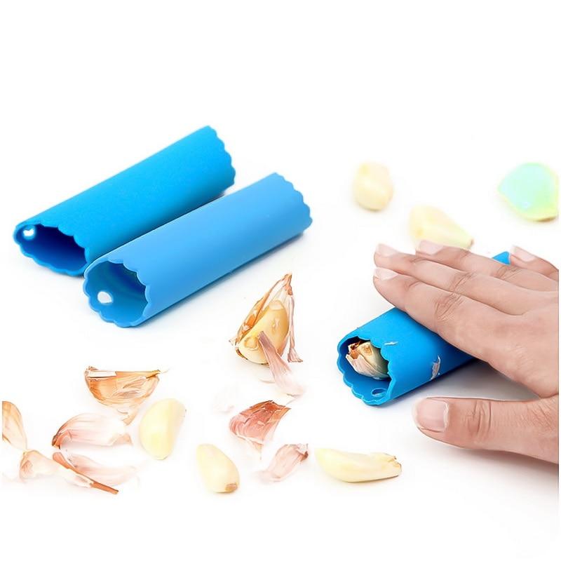 1Pcs Silicone Garlic Rocker and Peeler Kitchen Garlic Roller Peeling Tool Silicone Garlic Peeler Silicone Peeler Garlic Peeling