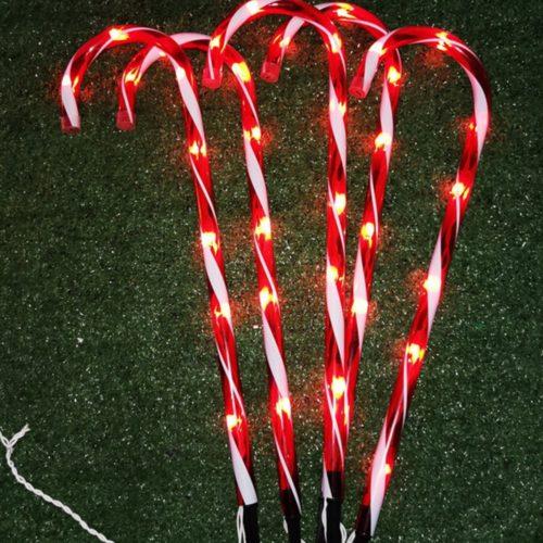 Candy Cane Lights Set of 5