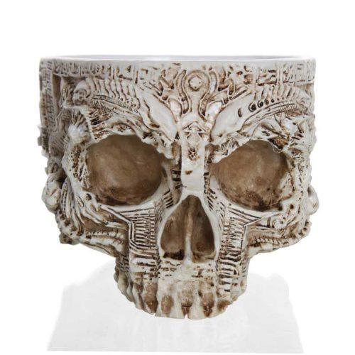 Skull Flower Pot Garden Decor