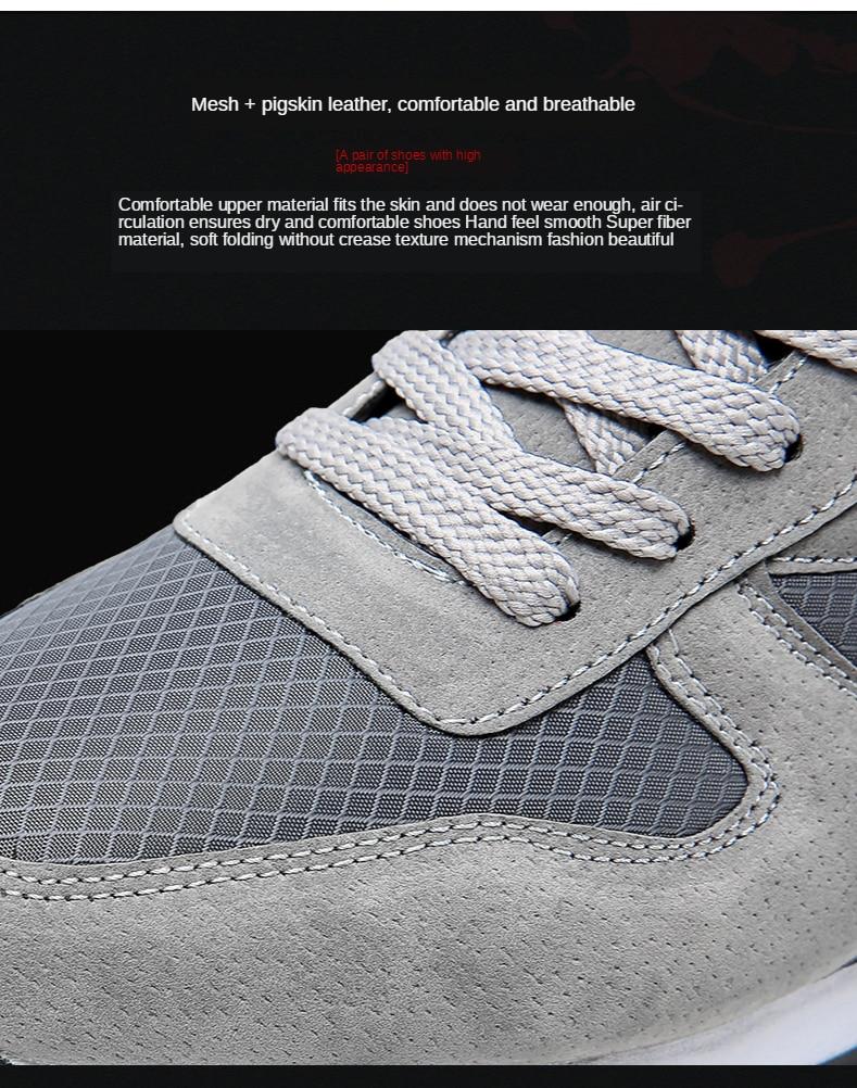 Mens Running Sneakers Breathable Footwear