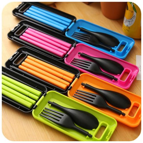 Traveling Utensils Folding Cutlery Set