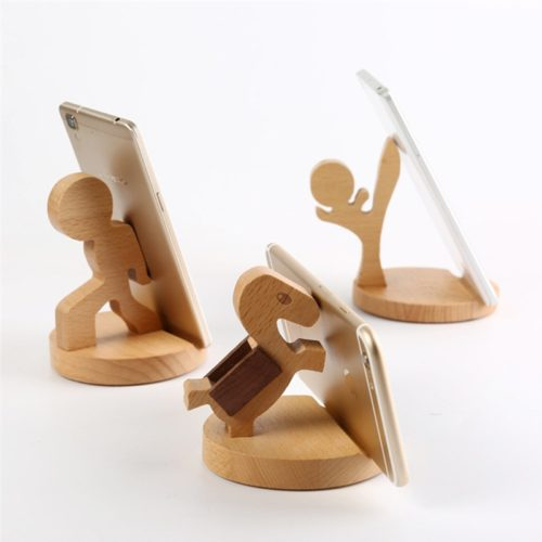 Wooden Phone Holder Stand