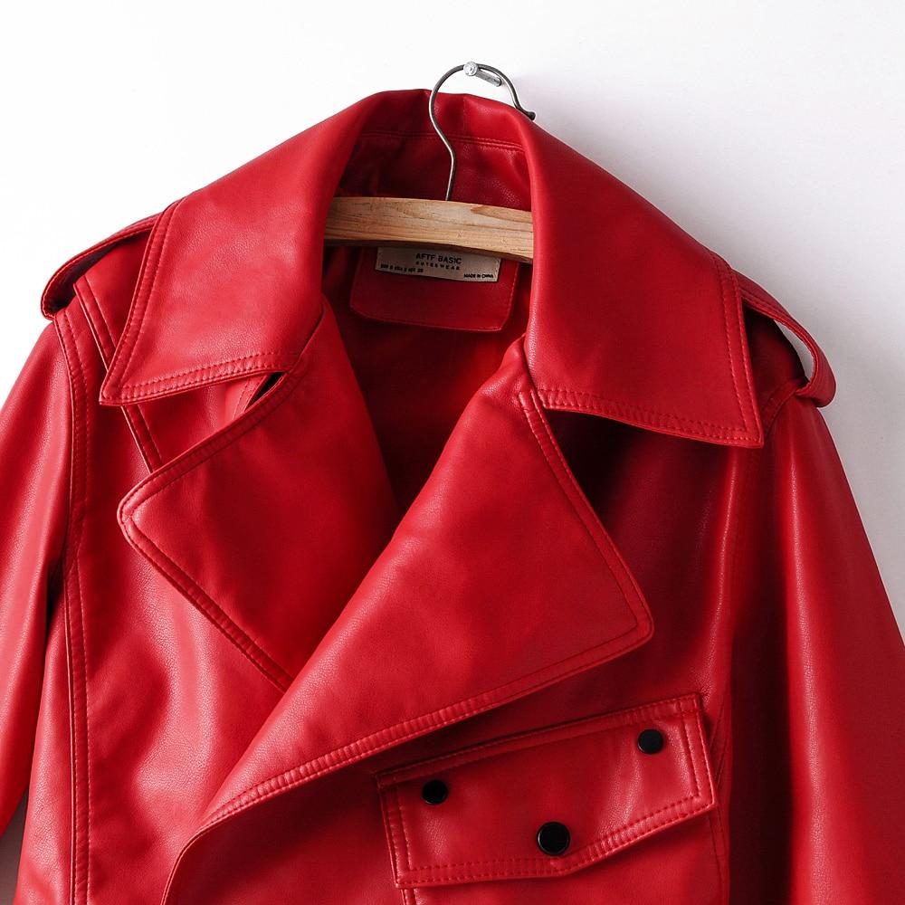 Ladies Faux Leather Jacket Stylish Coat